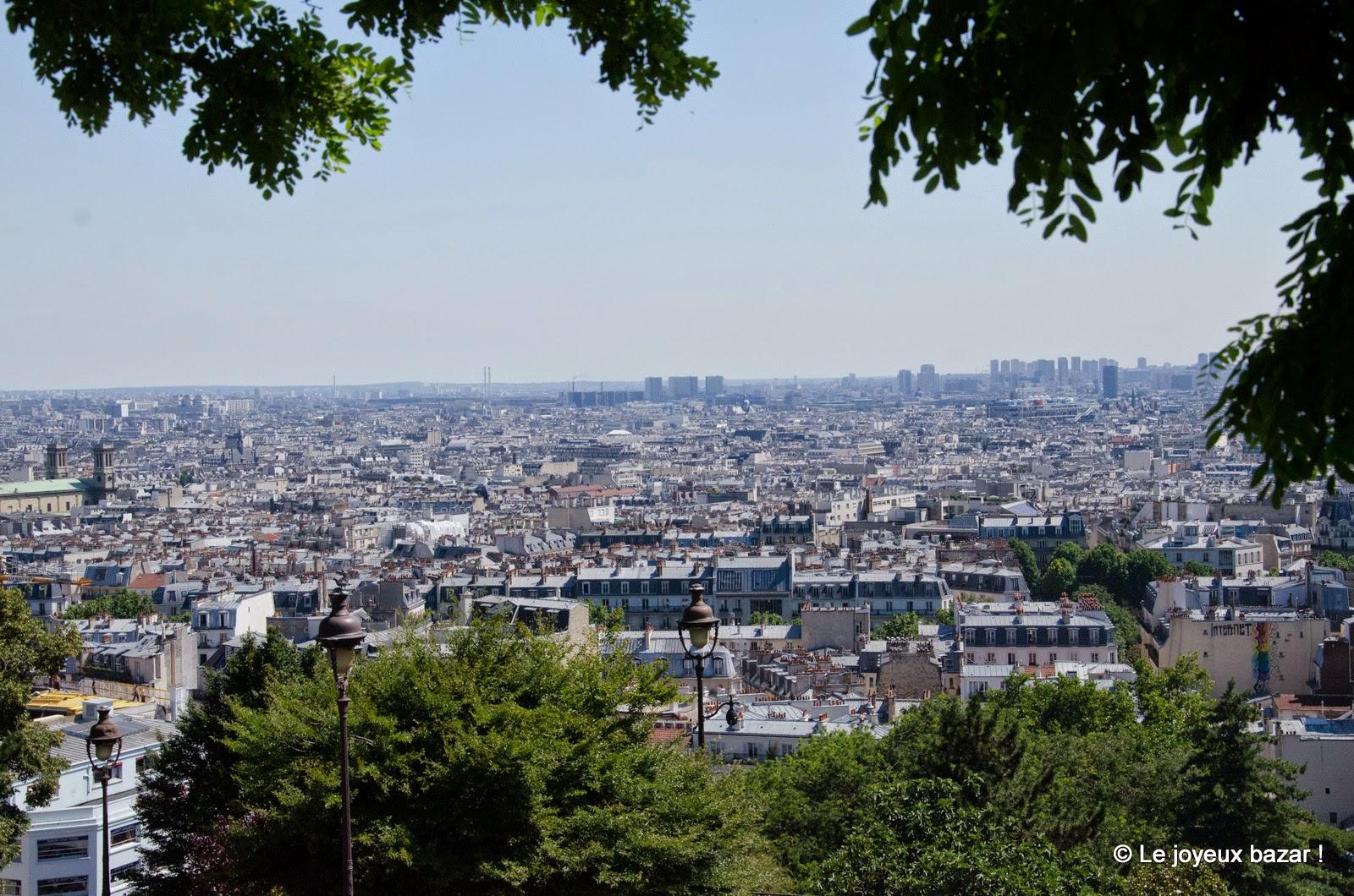 Paris - Montmartre - vue sur Paris depuis le Sacré-Coeur