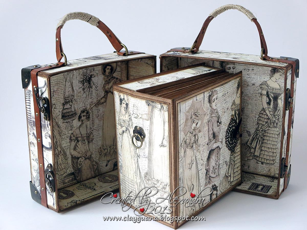 clayguana vintage style suitcase tutorial part 3. Black Bedroom Furniture Sets. Home Design Ideas