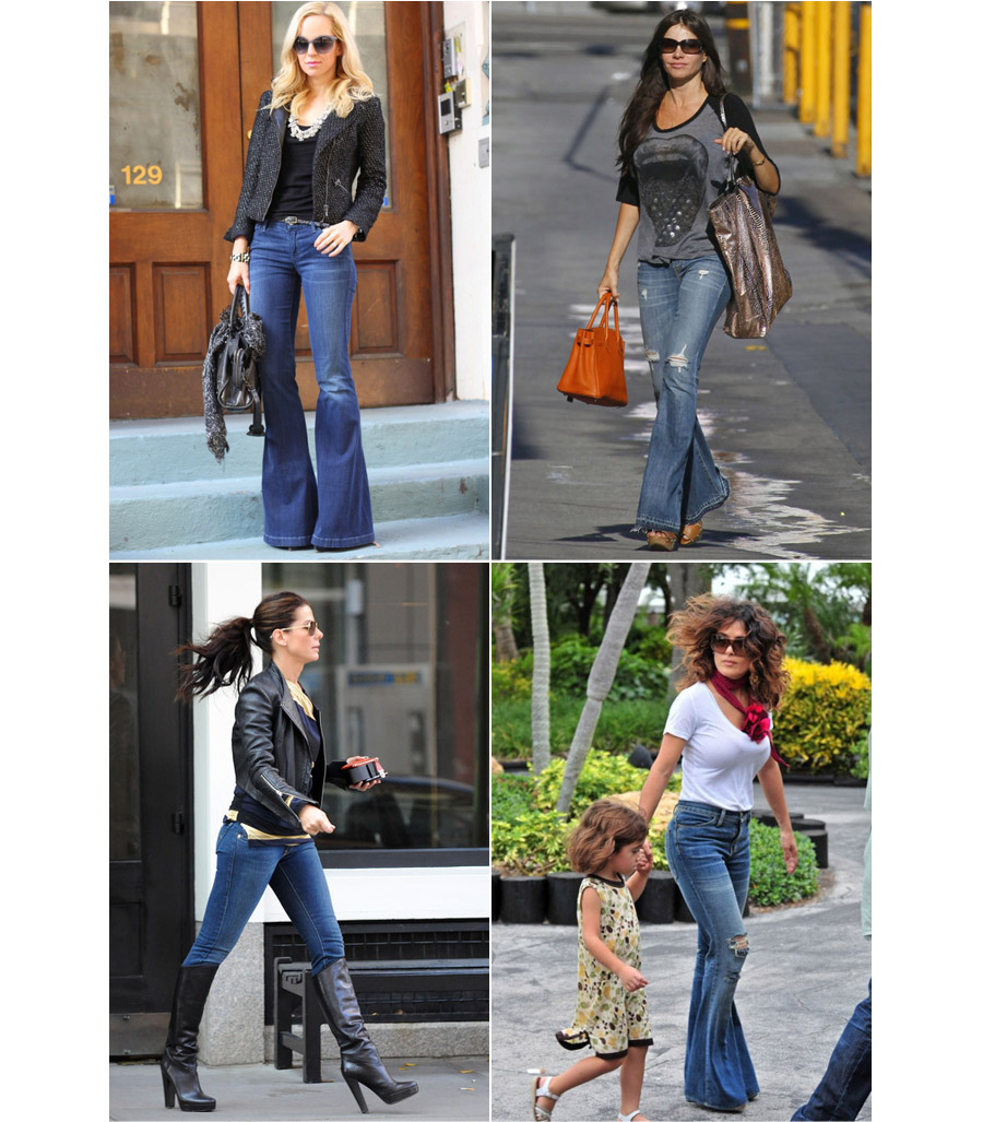 jill and the little crown: How to wear bell bottom jeans