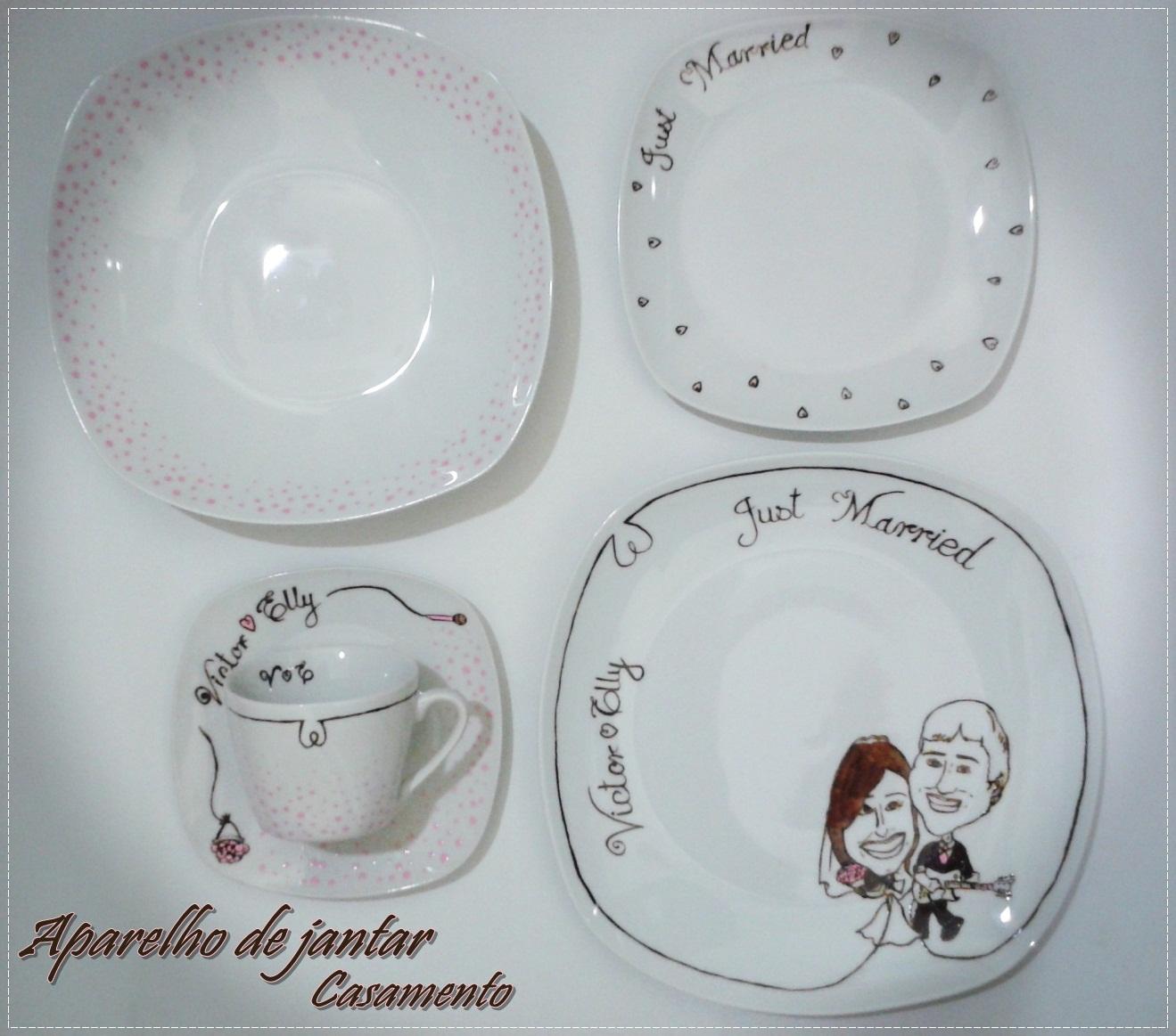 Aparelho de jantar 20 peças personalizado para presente de casamento  #60463D 1319x1163