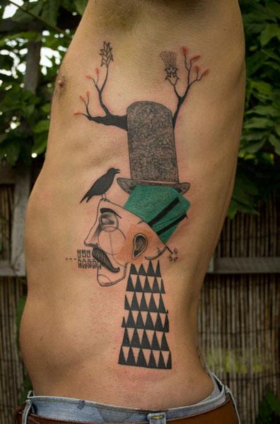 graphic zoo tattoo