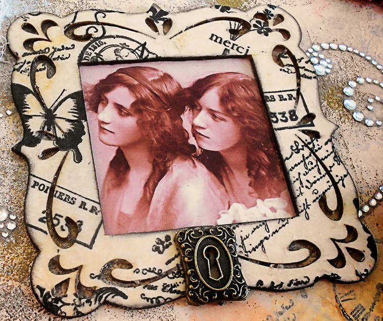 laughngypsy vintage photo 1920s young ladies photograph altered art box