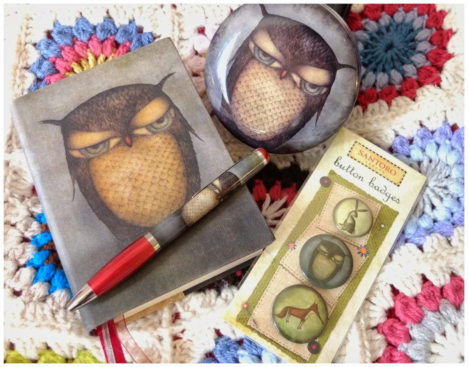 The ideal gift - Grumpy owl stationary from Santoro on Hello Terri Lowe, British lifestyle blog.