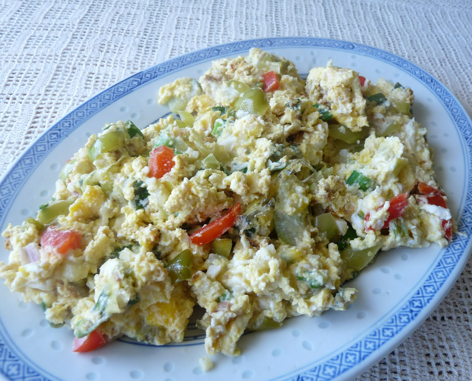 Scrambled Eggs with Tomatillos