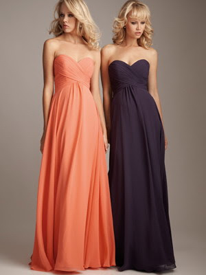 Sweetheart-strapless-neckline-black-long-black-chiffon-bridesmaid-dresses