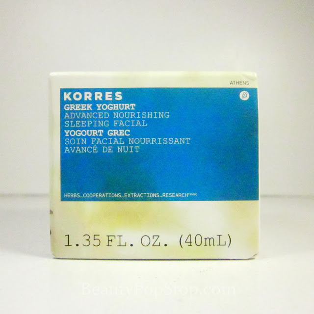 Korres Greek Yoghurt Advanced Nourishing Sleeping Facial Review