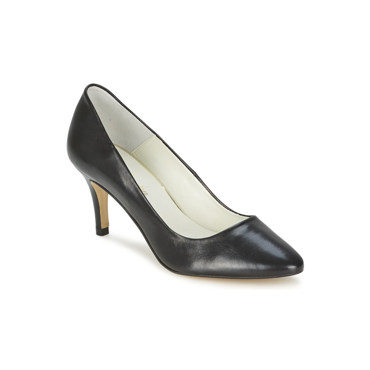 betty london black pointed court shoe