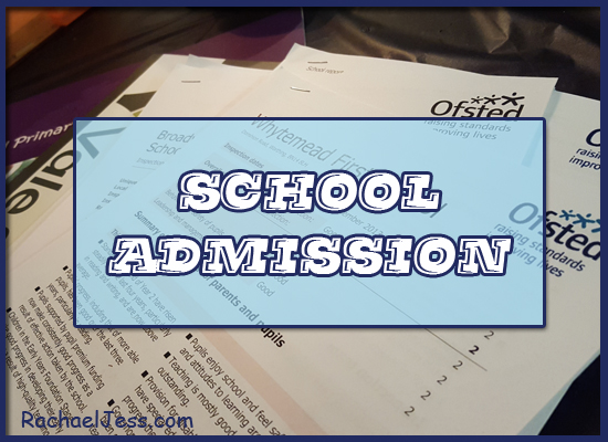 My views on completing the schools admission process