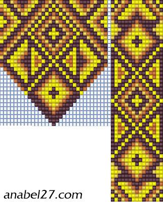 гердан схема орнамент бисероплетение loom pattern beading