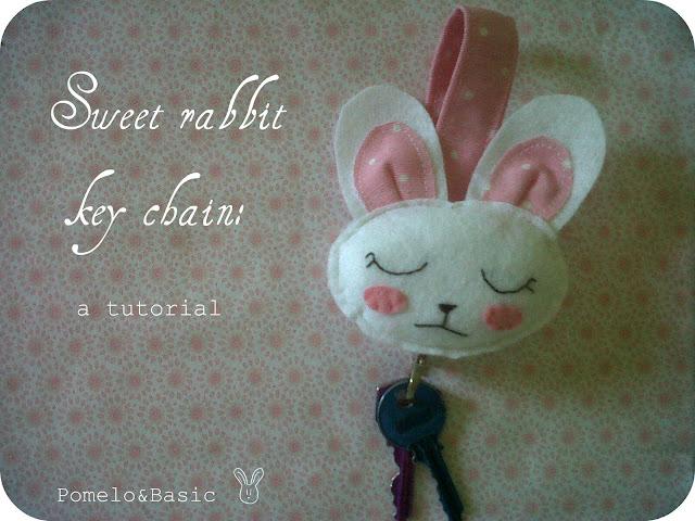 Sweet rabbit key chain: a tutorial.