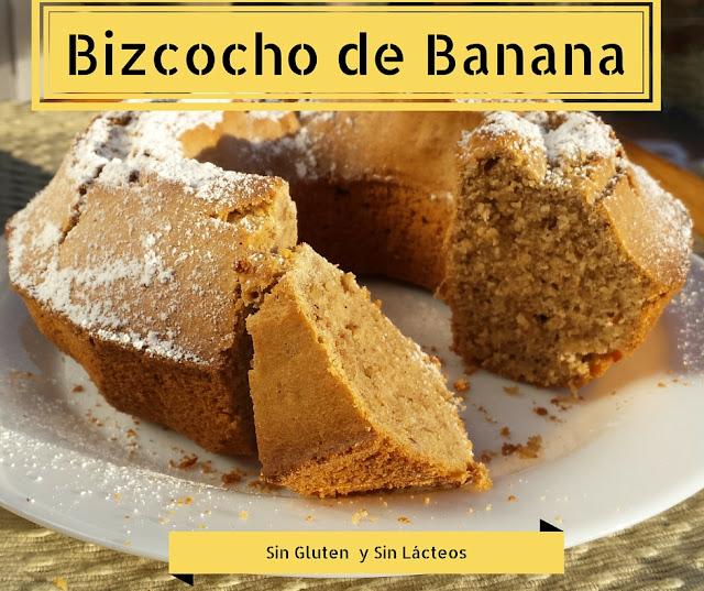 Cómo preparar un bizcocho saludable, usando la cáscara de una banana. Receta SIN GLUTEN y SIN LÁCTEOS