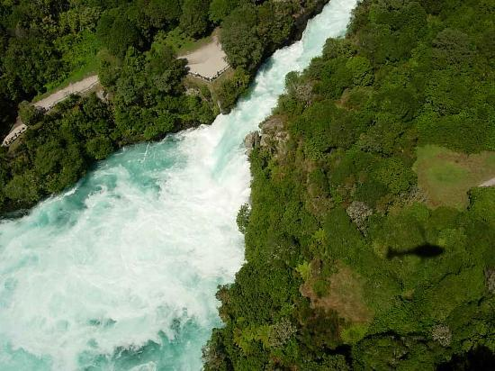 Huka Falls from the air
