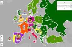 Mapa interactivo de las finales de la UEFA Champions League