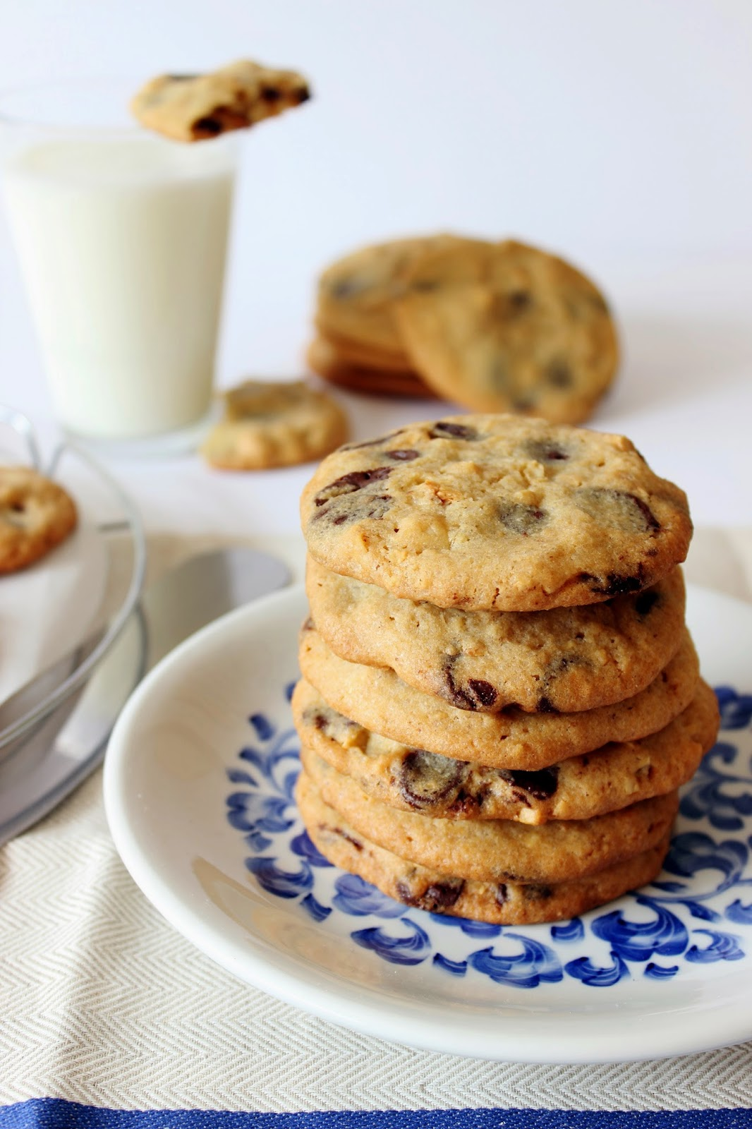 Chocolate chip cookies met hazelnoten