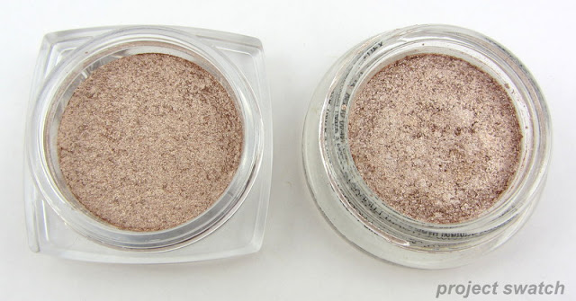 almost dupes: L'oreal Blinged & Brilliant, Armani Rock Sand
