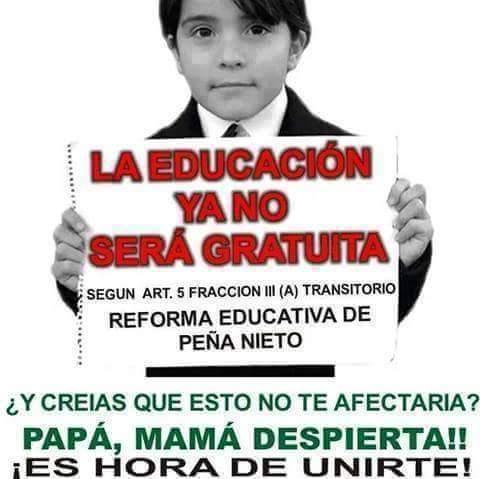 LA EDUCACIÓN YA NO SERÁ GRATUITA