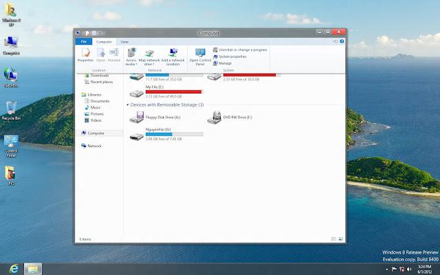 Bản Ghost Windows 8 Enterprise RTM x64 Nosoft  8