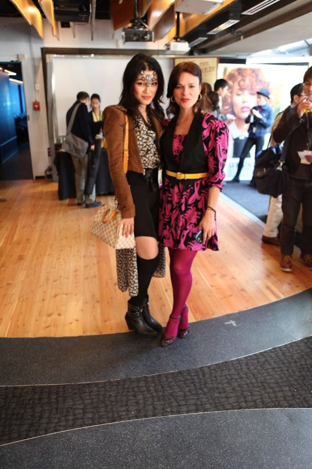 eco fashion week 06 back stage, value village thrift chic challenge with founder myriam laroche