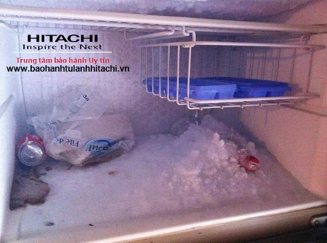 Sửa tủ lạnh Hitachi bị đông đá ngăn mát tại nhà Hà Nội