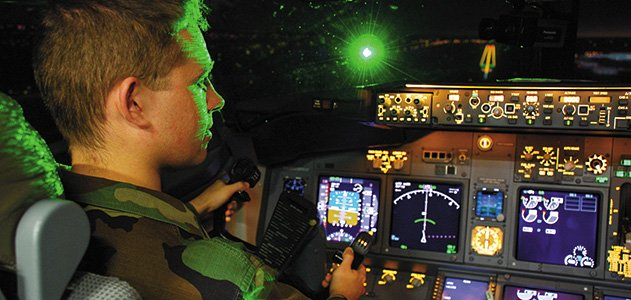 More than half of British pilots say they have experienced laser attacks by pranksters, says a new survey.   The prank involves shining a hand-held laser at the cockpit of a plane, which is either preparing to land or take off.   Pilots say they are distracted or even blinded by the light depending on its intensity and puts passengers to grave risk.