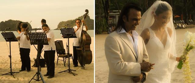 romantic beach ceremony