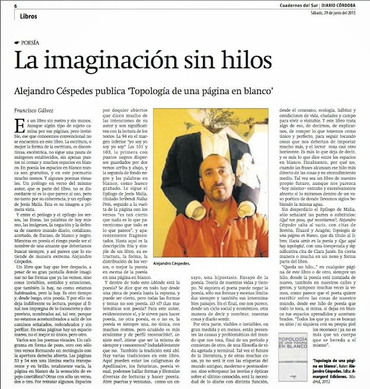 """Reseña de Francisco Gálvez en """"Cuadernos del Sur"""""""
