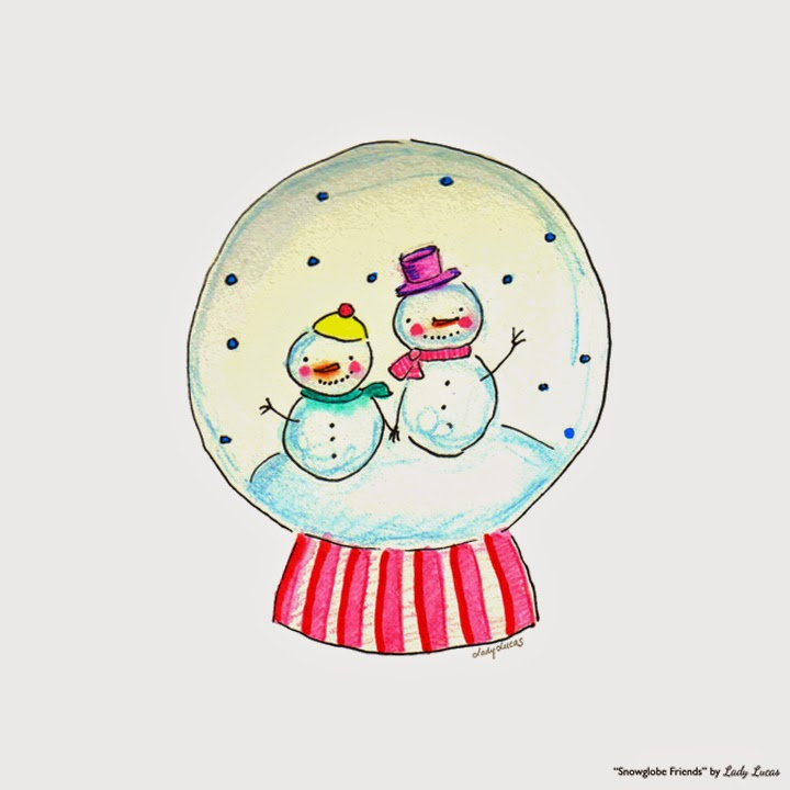 Snow Friends by Lady Lucas | #25DaysofSnowmen