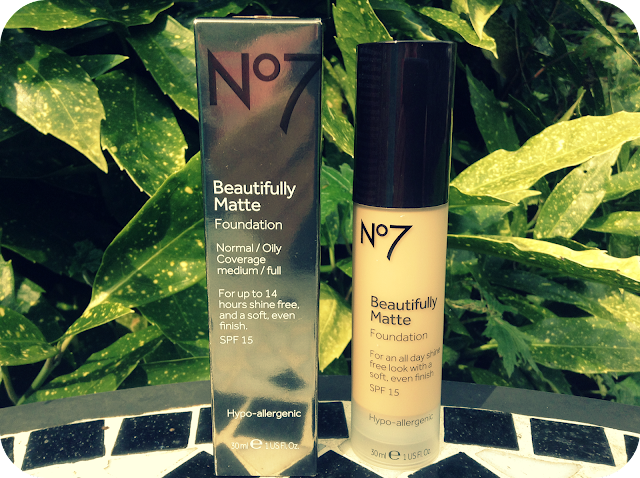 a picture of no7 beautifully matte foundation