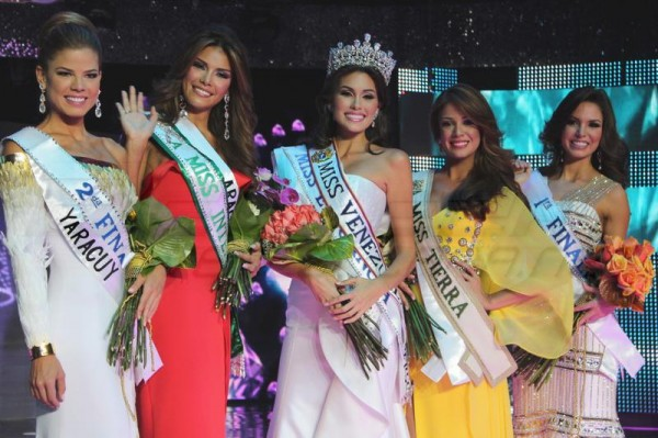 Top 5 winners of Miss Venezuela 2012