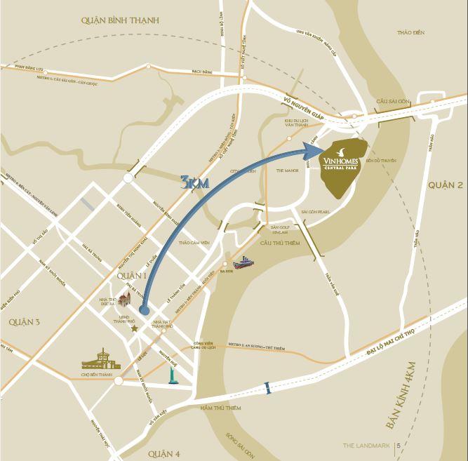 Dự án Vinhomes Central Park sở hữu vị trí đắc địa tại Trung tâm TPHCM
