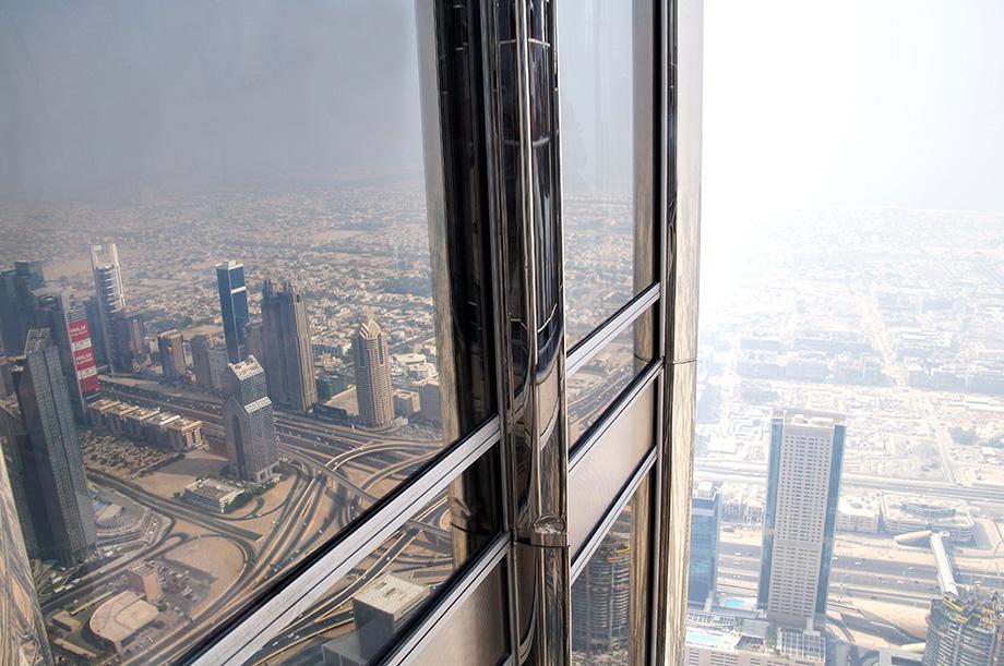 Ynas Reise BLog | VAE | Blick aus dem Burj Khalifa | 124. Stock