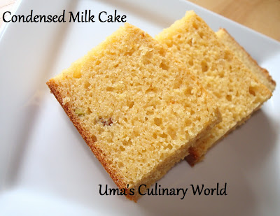 condensed milk eggless cake