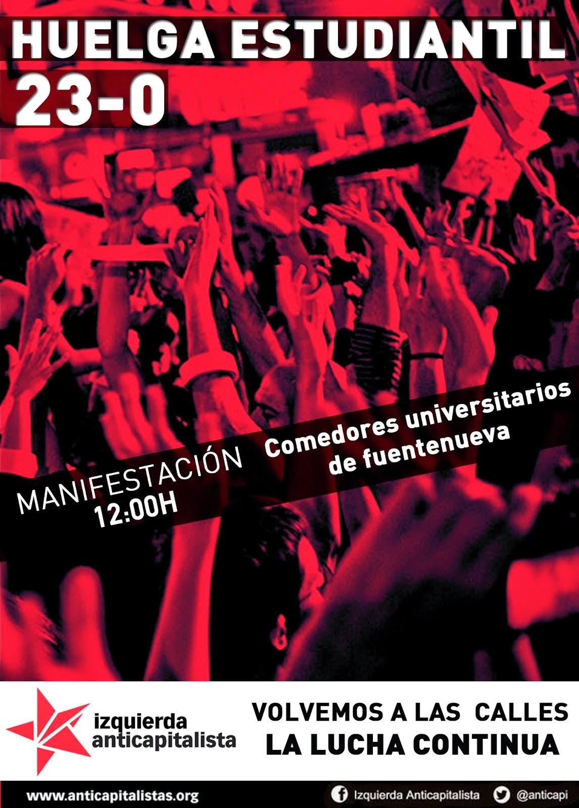 Jueves 23 de octubre- Huelga estudiantil