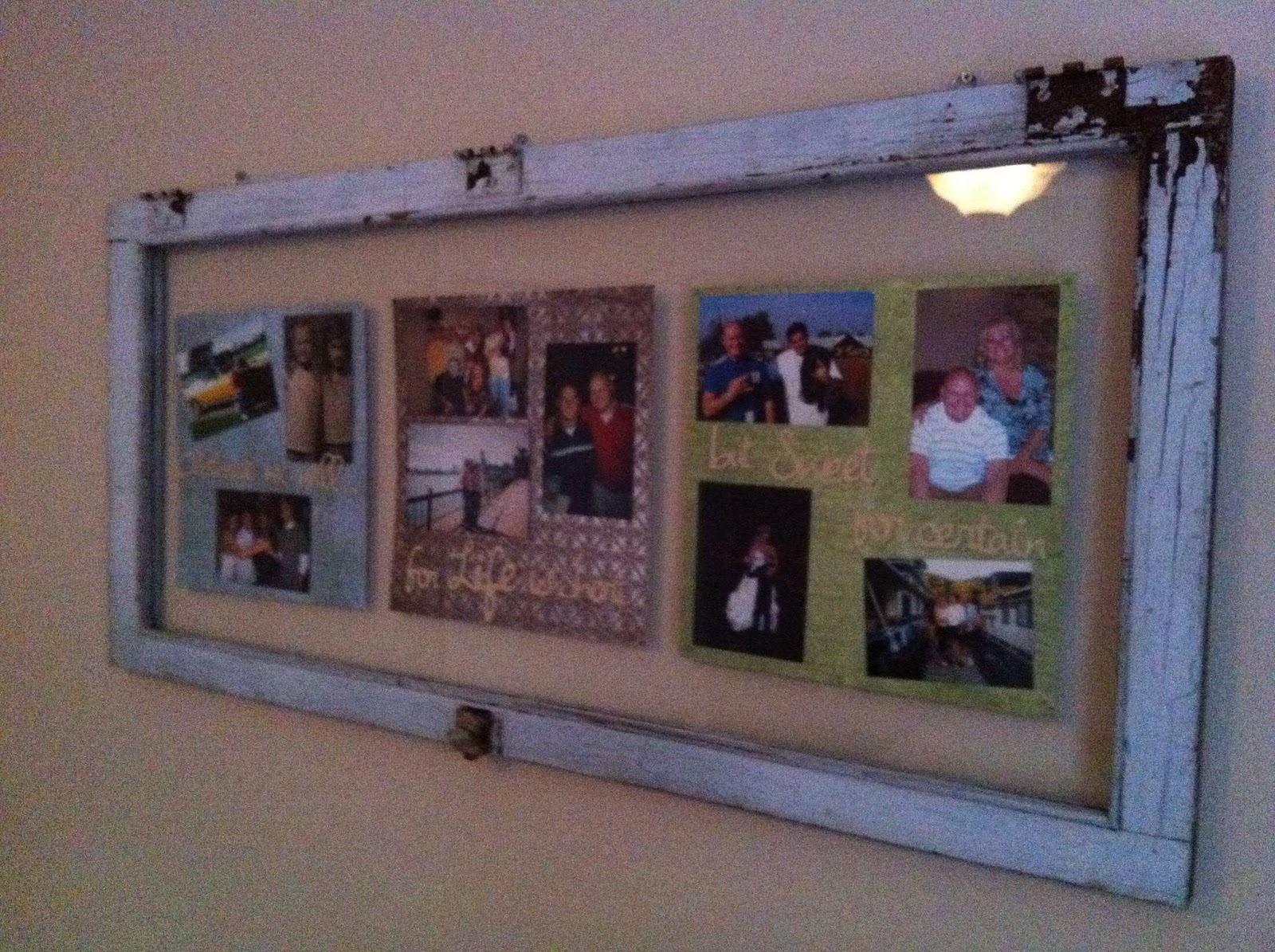 dani 39 s crafts recycled window pane picture frame