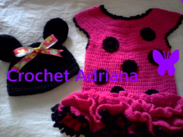 Cochet Adriana: Vestido Minnie Mouse