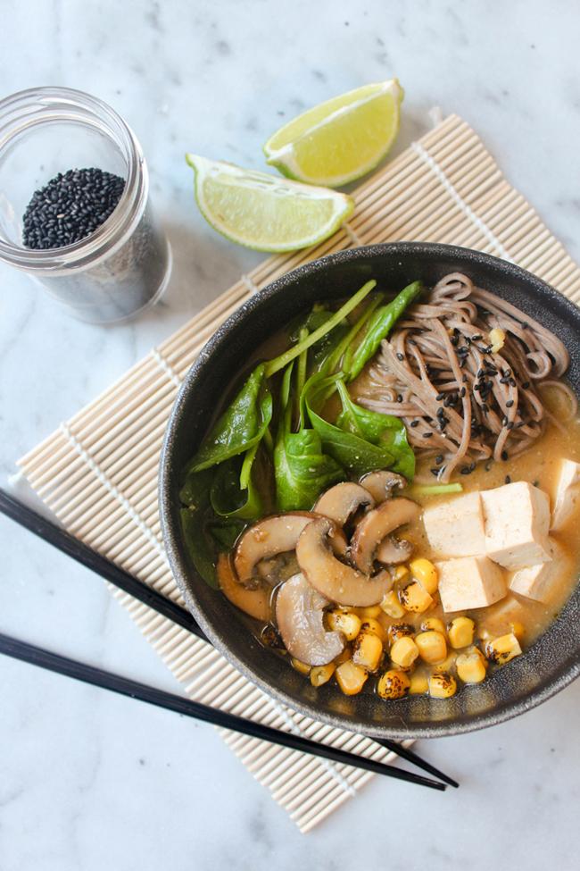 Healing Miso Soba Noodle Soup Hello World