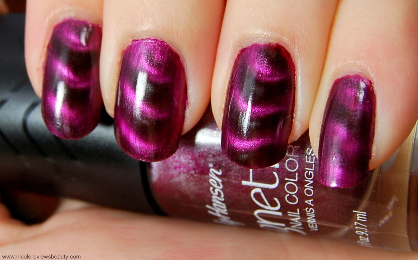 ... Sally Hansen Magnetic Nail Color in Red-y Response Review and Swatches