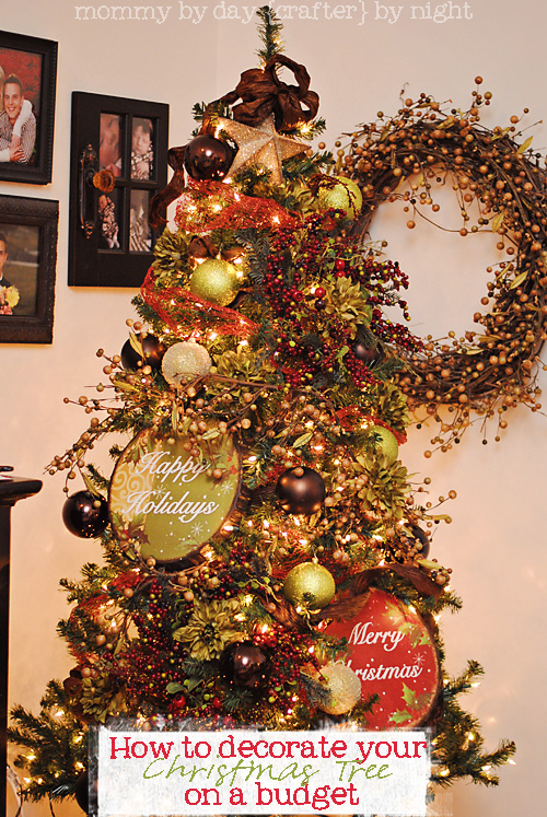 how to decorate your christmas tree on a budget