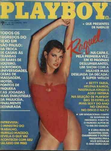 Confira as fotos da atriz Raquel Welsh, capa da Playboy de dezembro de 1979!