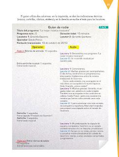 Apoyo Primaria Español 6to Grado Bloque I lección 3 Elaborar un programa de radio
