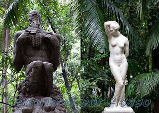 Esculturas do Parque Trianon - Fauno de Victor  Brecheret e Aretusa de Francisco Leopoldo da Silva