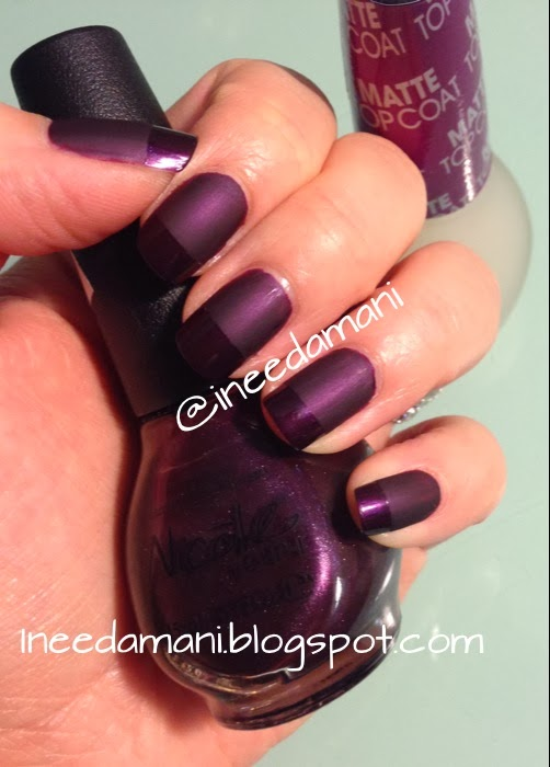 super easy purple matte glossy tips manicure nicole opi show you care