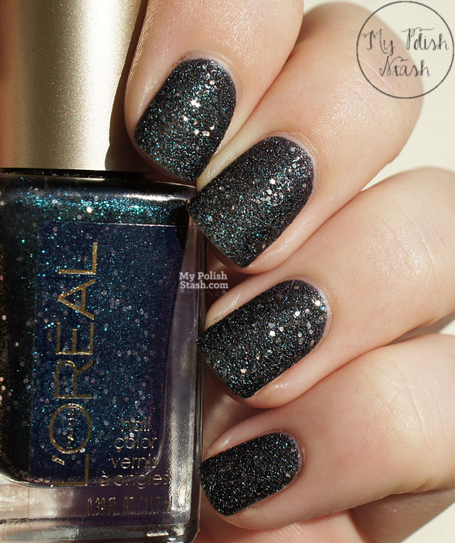 teal textured nail polish