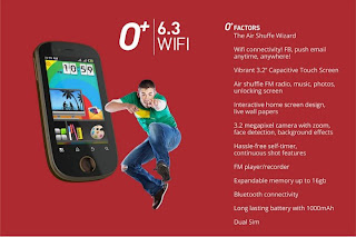 O+Plus 6.3 Wifi Phone Price, Feactures and Specs.