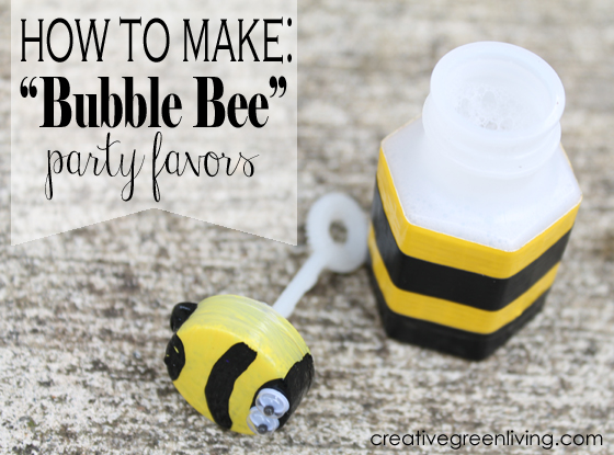 How To Make Bubble Bee Party Favors
