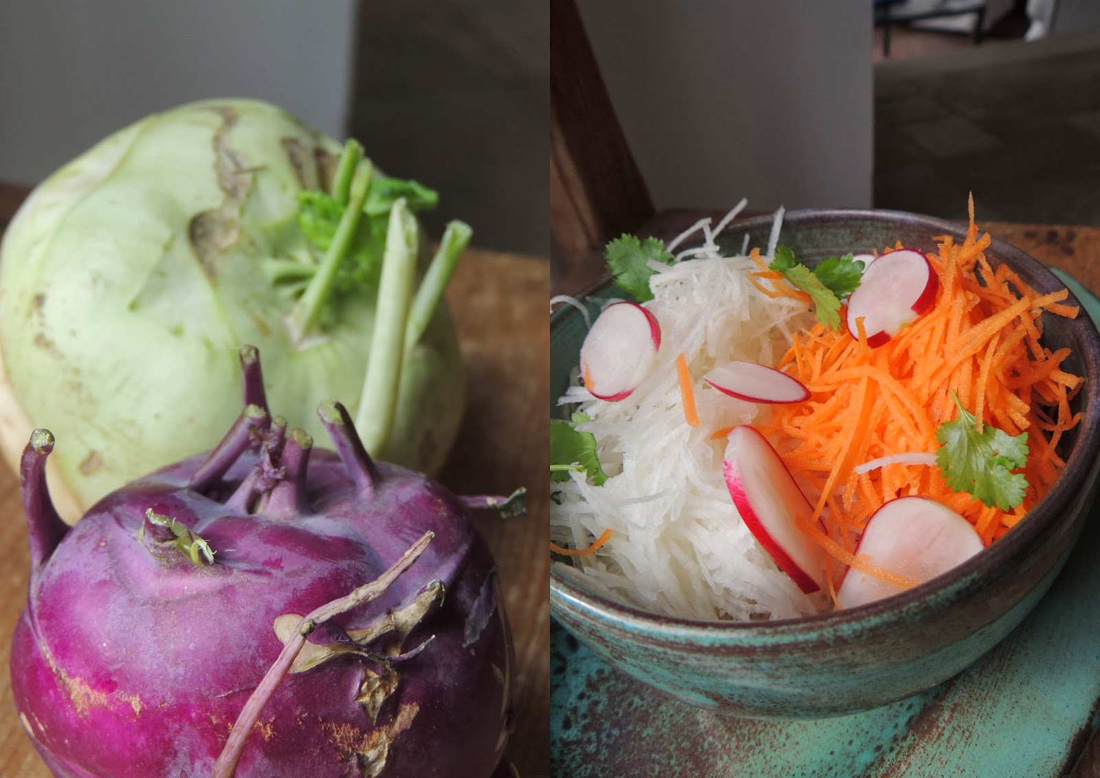 Midi cuisine salade de choux rave sauce au tamarin et au - Cuisiner le choux rave ...