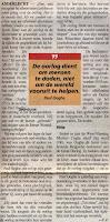 Artikel uit  Het Volk  11-09-2001