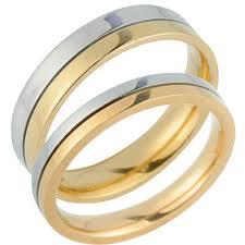 Par de alianças de casamento mais simples