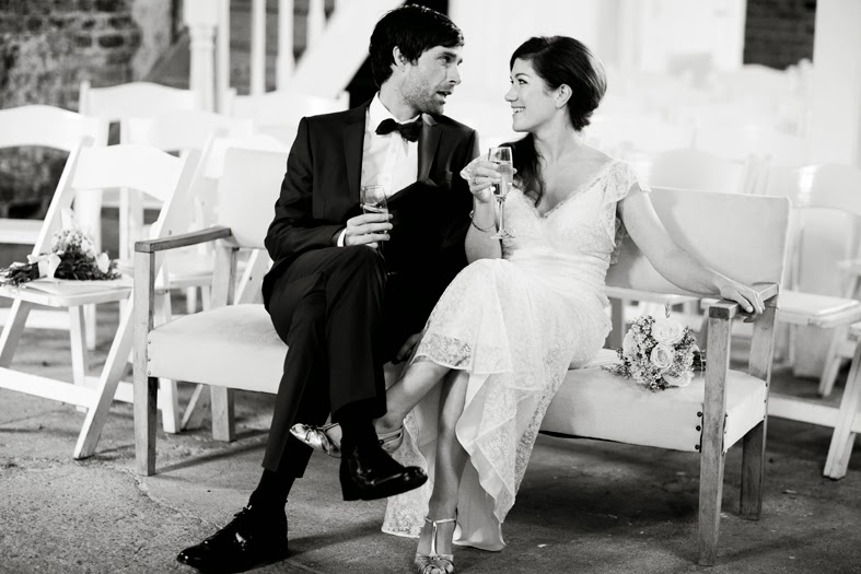 Heavenly Vintage Wedding Blog - Original vintage wedding Jennifer & Neil in b&W