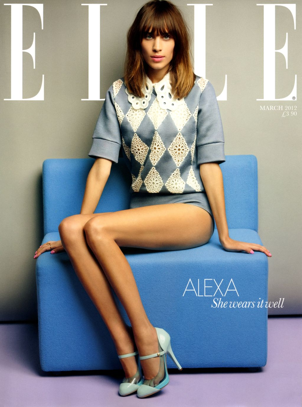 Alexa Chung Covers The March Issue Of Elle Uk  Read More To See Hq